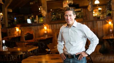Nick Sarillo inside his restaurant