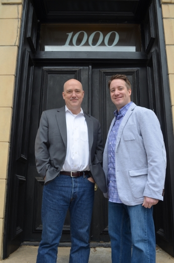 Todd Hext (left) and Dave Dyson (right) at the Eclipse office.