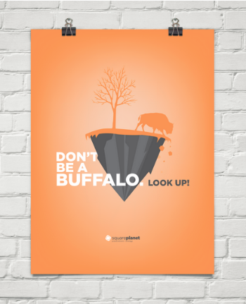 SquarePlanet believes in this buffalo analogy so much that they designed the above poster.