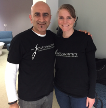 Raman Chadha and Kristi Zuhlke, CEO and co-founder of KnowledgeHound