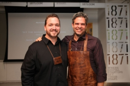 Co-founders Travis McHattie (left) and Jesse McCabe (right) at JuntoNight 2014