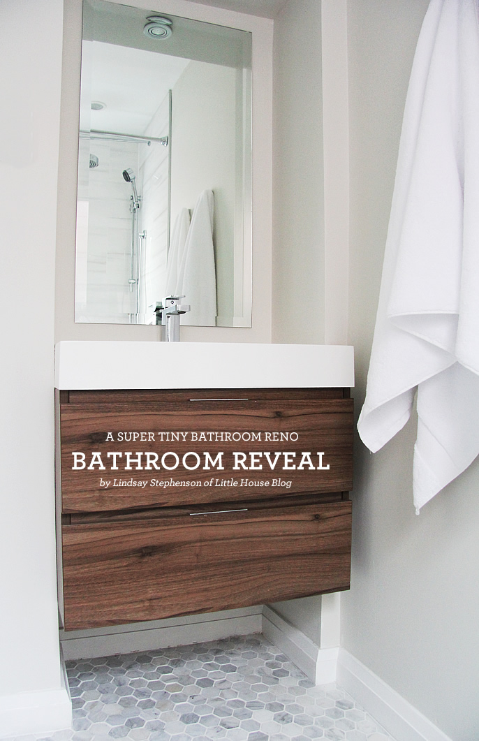 Reveal our super tiny washroom renovation lindsay for Super small bathroom