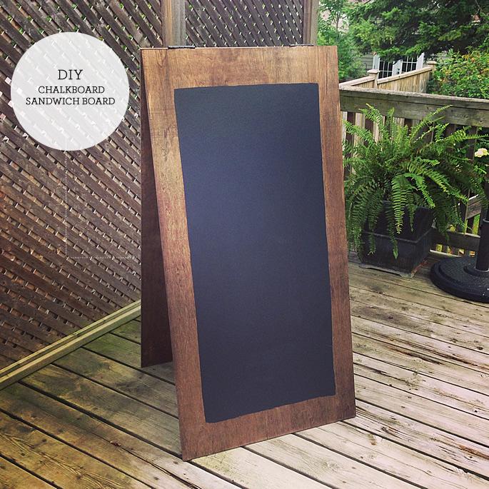 chalkboard sandwich board lindsay stephenson. Black Bedroom Furniture Sets. Home Design Ideas