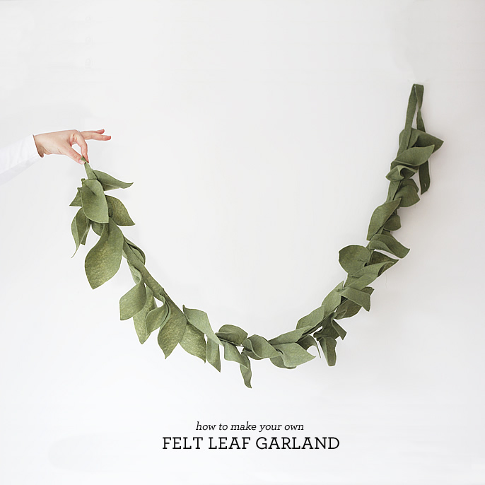 Diy Felt Leaf Garland Lindsay Stephenson