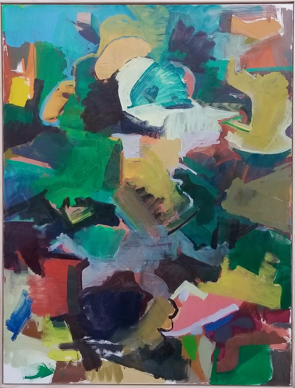 "Ski Lift, Oil on Polyester, 40""x30"", 2015"