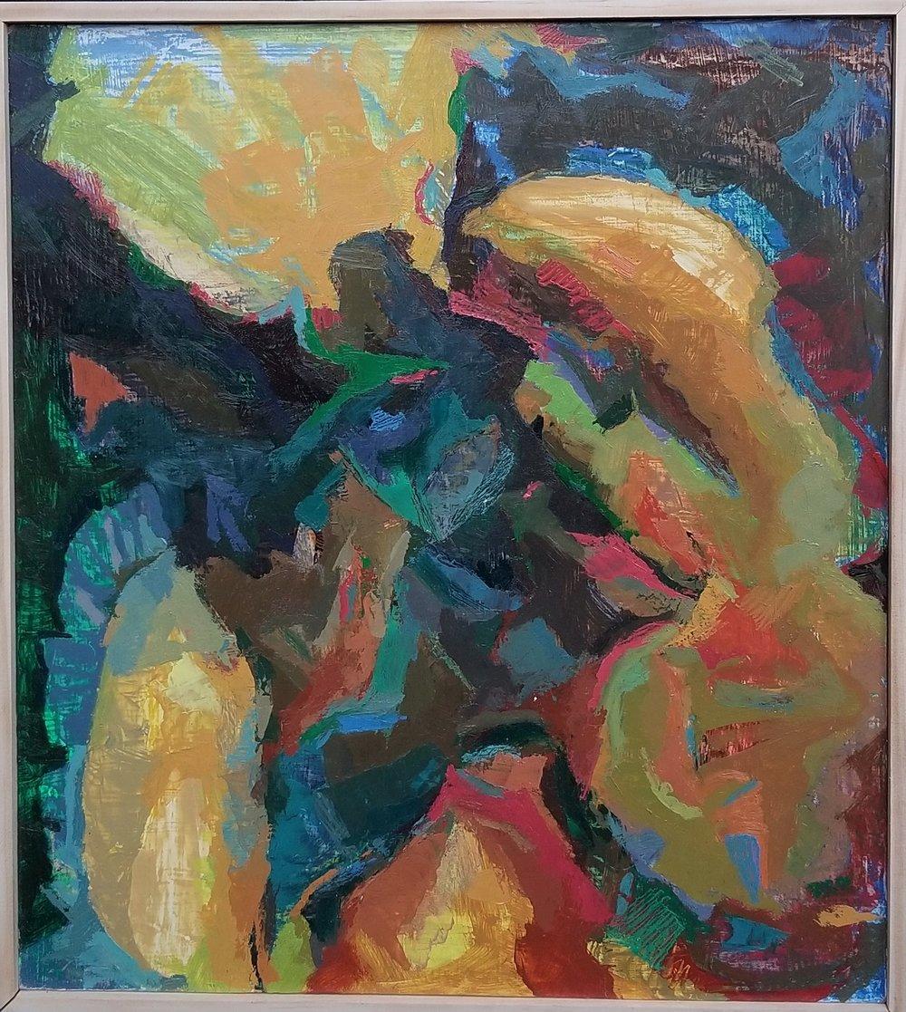 """Rocket Belch, Oil on Panel, 16"""" x 15"""", 2015"""