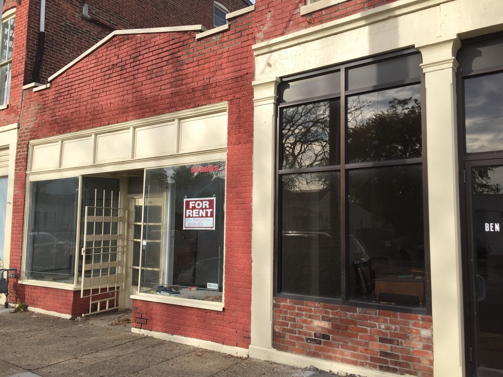 Storefront at 902 S. Shelby. Our offices are right next door. You've been warned.