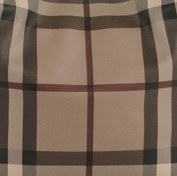 Burberry Smoked Check Coated Canvas