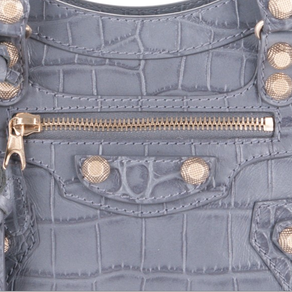 Balenciaga Croc Embossed Leather