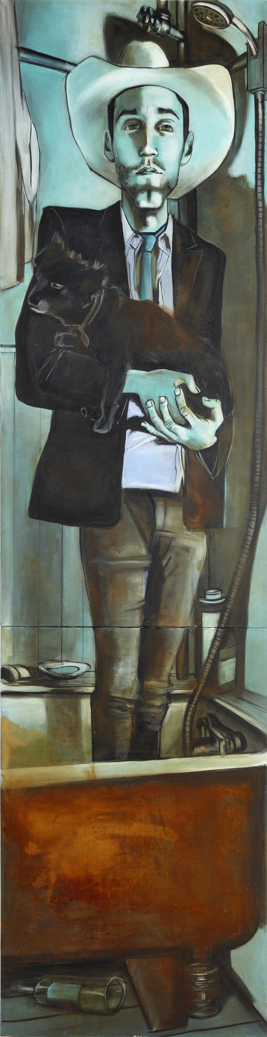 Bathtubcowboy, Kristian, 2' x 7.5'