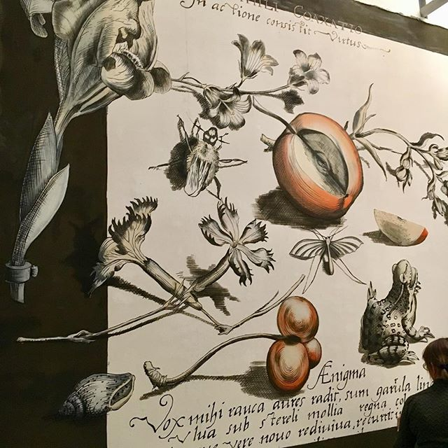 Bar mural of Chez Oskar ... an homage to Joris Hoefnagel - ready to rust!