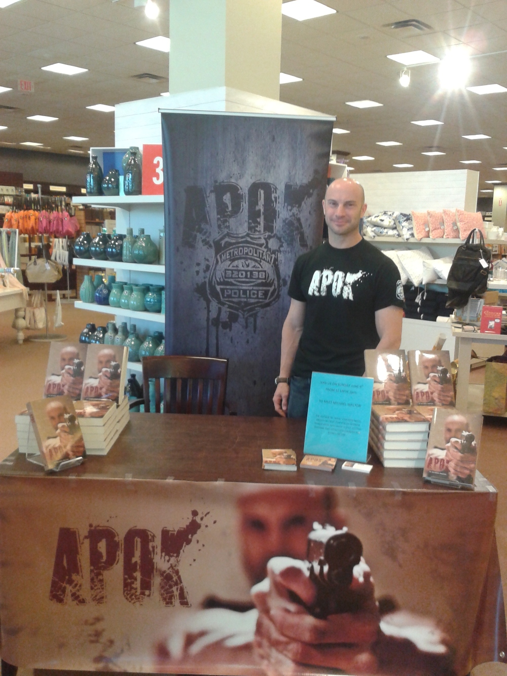 MIchael Walton at a APOK Book Stall