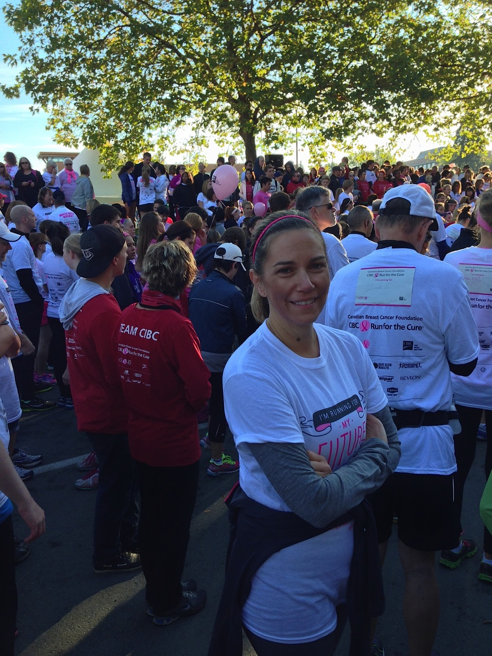 FriesenPress President CEO Tammara Kennelly getting ready for the run