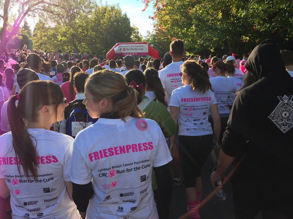 FriesenPress team running for cure.jpg