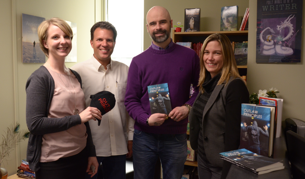 Author  Ryan Wickham with FriesenPress Management Team