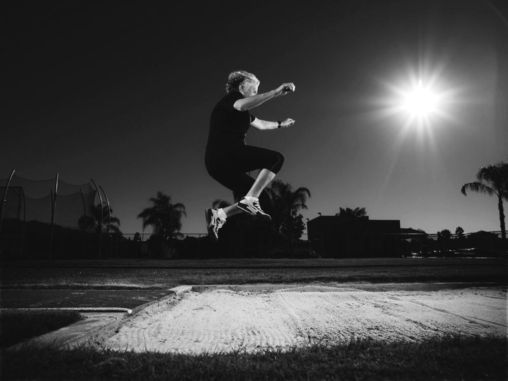 Olga at 91, long jump