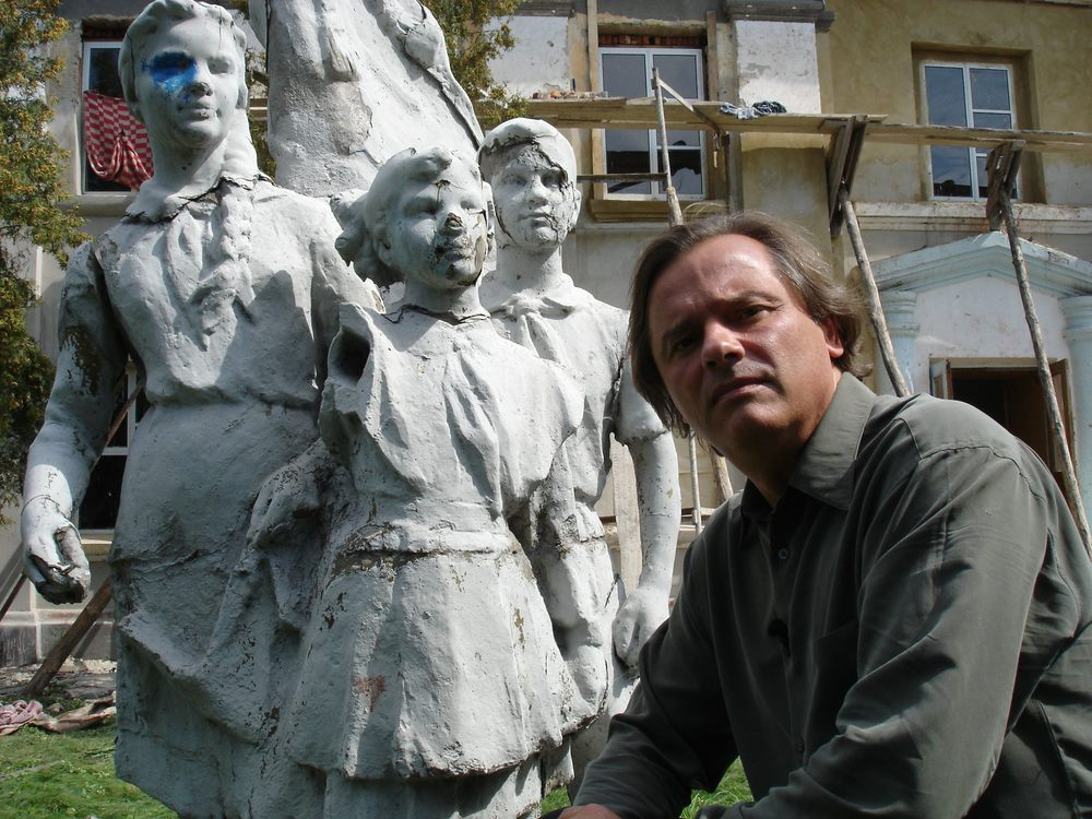 FriesenPress Author  Outside an 'Internat' orphanage in Ukraine.jpg
