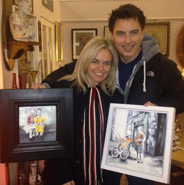 John Barrowman whisks some of my paintings off to a new home in sunny L.A.