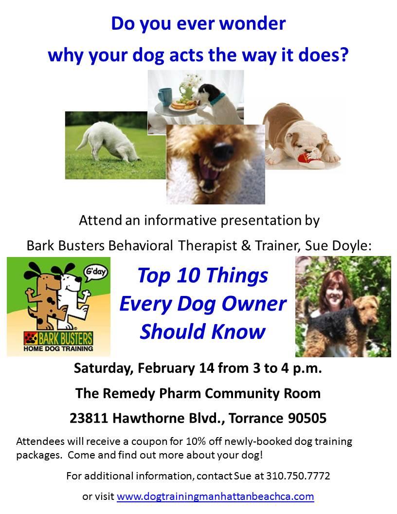 Dog training free seminar