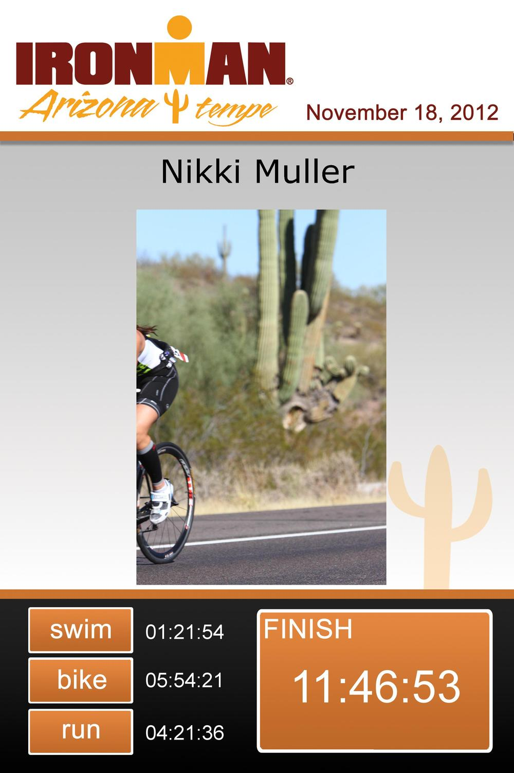 I like this finisher certificate exclusively because it looks like I was so fast on the bike that I could not be captured on film. Also, that's a pretty sweet cactus.