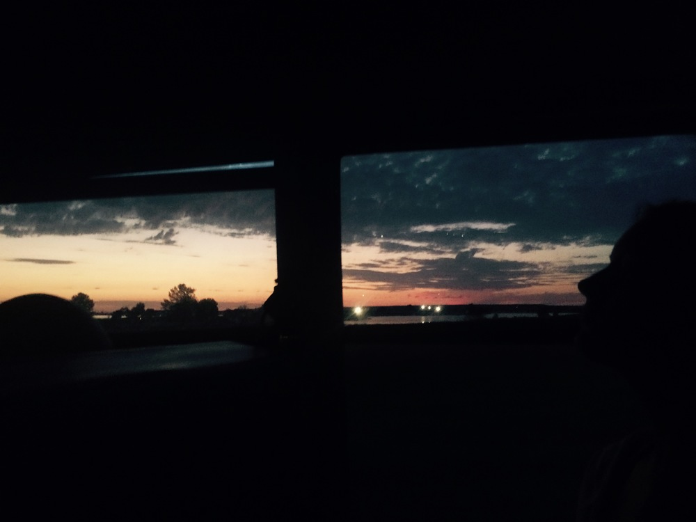 Sunrise on the shuttle.