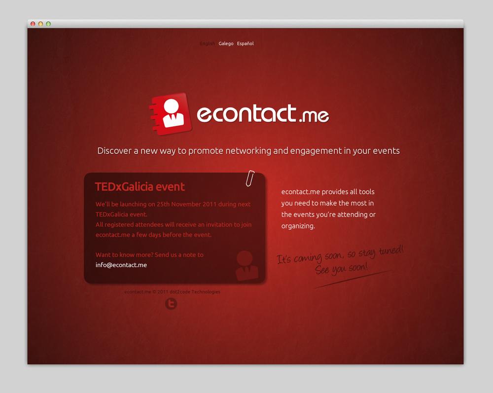 Landing page preparada para un evento. En este caso TEDxGalicia