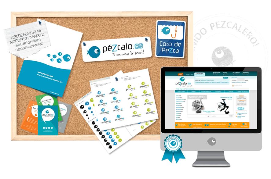 Identidad corporativa y aplicaciones offline y online para la marca:papelería, presentaciones y documentos online, landing page, newsletter, tienda online...
