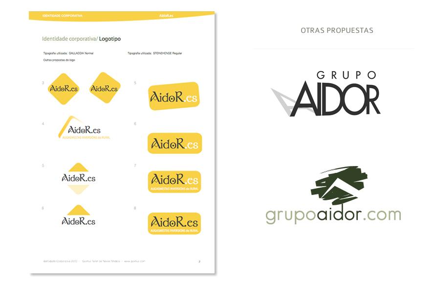 www.aidor.es  / Diseño de logotipo y web para empresa de bioconstrucción