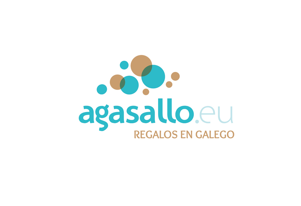 Identidad Corporativa para plataforma de regalos en galego /   www.agasallo.eu