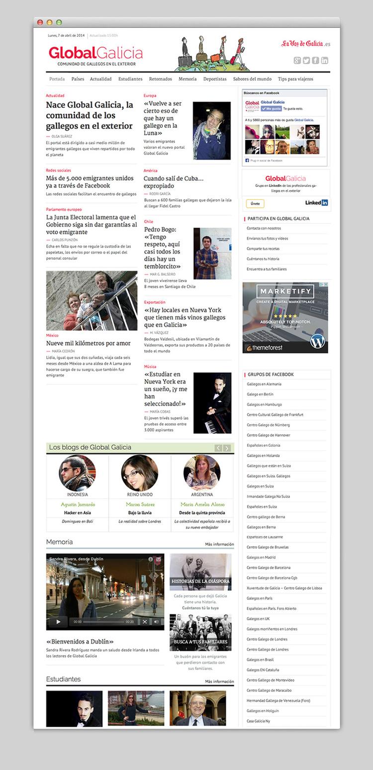 GLOBAL GALICIA (lavozdegalicia.es) / Diseño visual