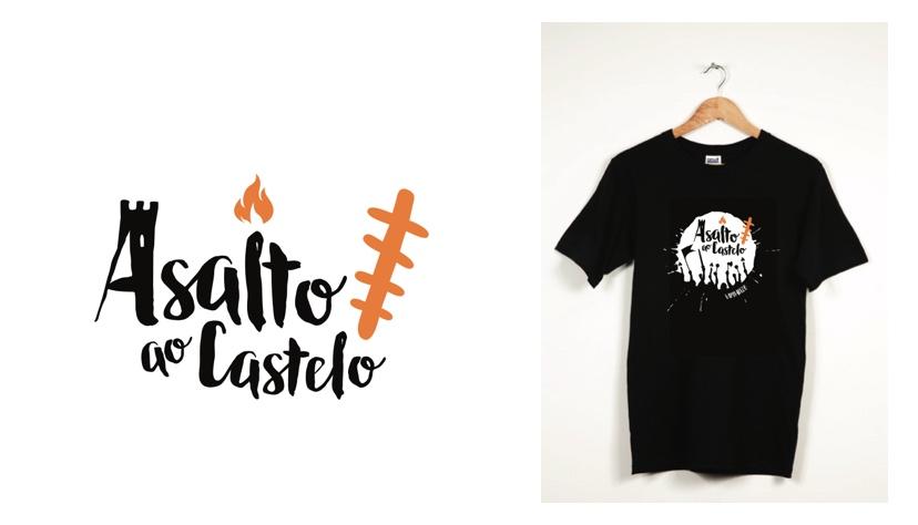 identidad corporativa para 'Asalto ao Castelo' de Vimianzo.