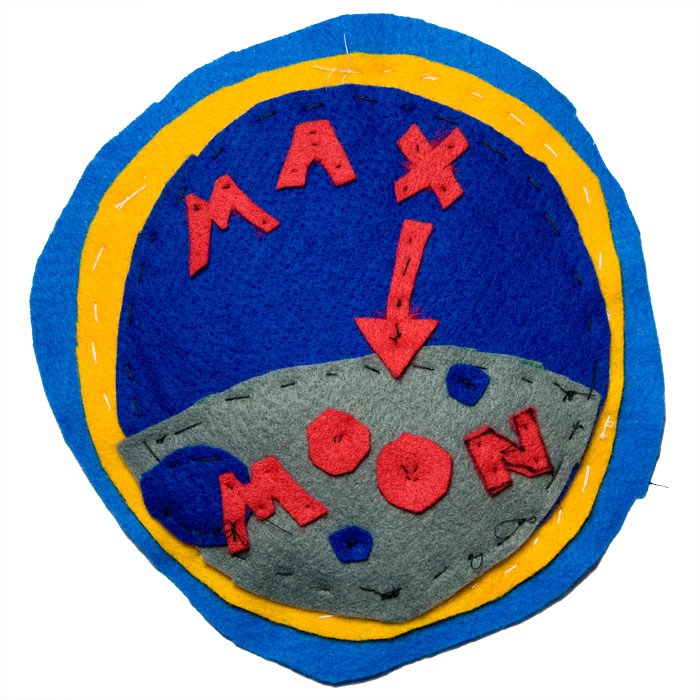 Max To Moon Official Mission Patch.