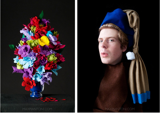 Flowerpiece & Girl with the Pearl Earring