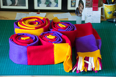 Some of the scarfs - incomplete.