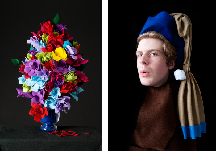 Flowerpiece   and  The Girl With The Pearl Earring.  2010.
