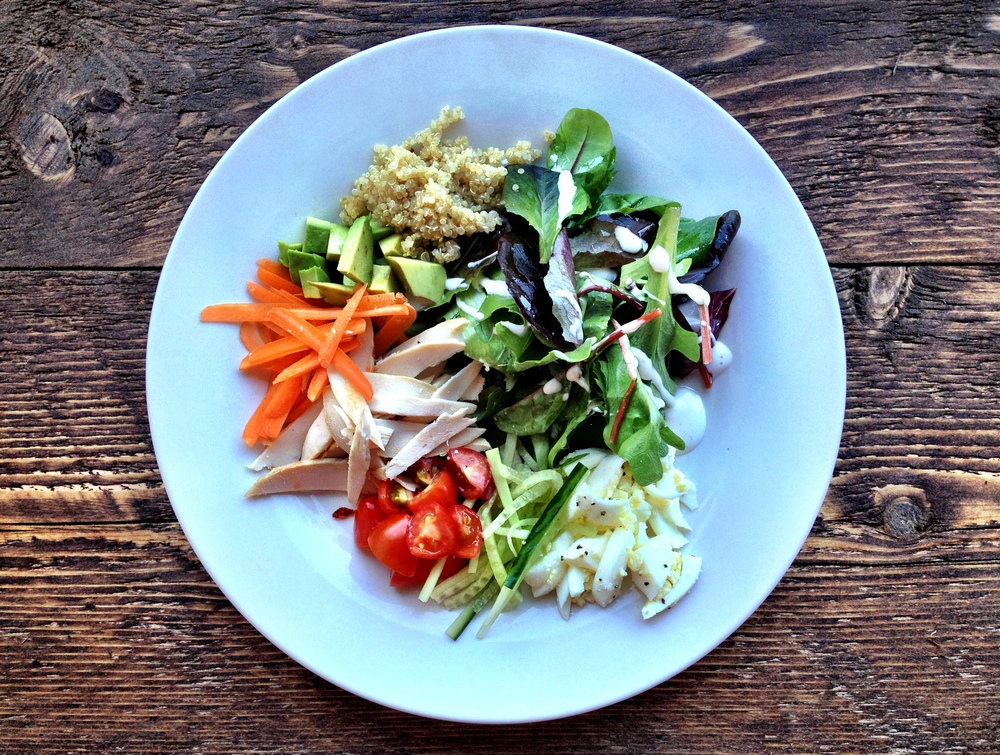 Deconstructed chicken salad. So good. And so good for you!