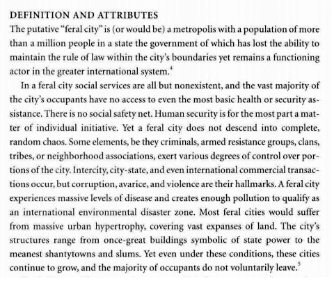 From Richard J. Norton,  Feral Cities,  2003