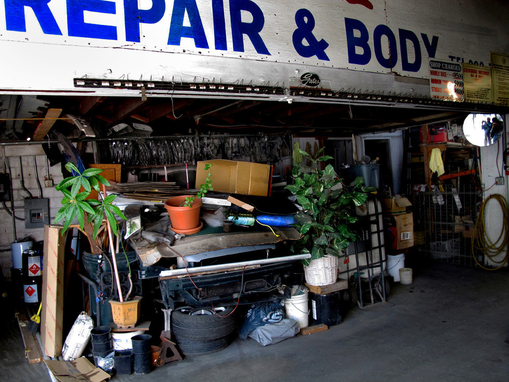 Repair Shop and Plants,  Kathy Sloane