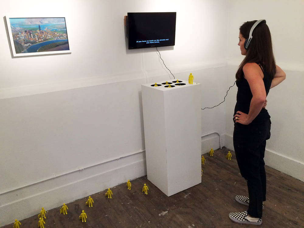 COLL.EO,  Whac-A-Mole,  2015. Installation view, Incline Gallery, San Francisco