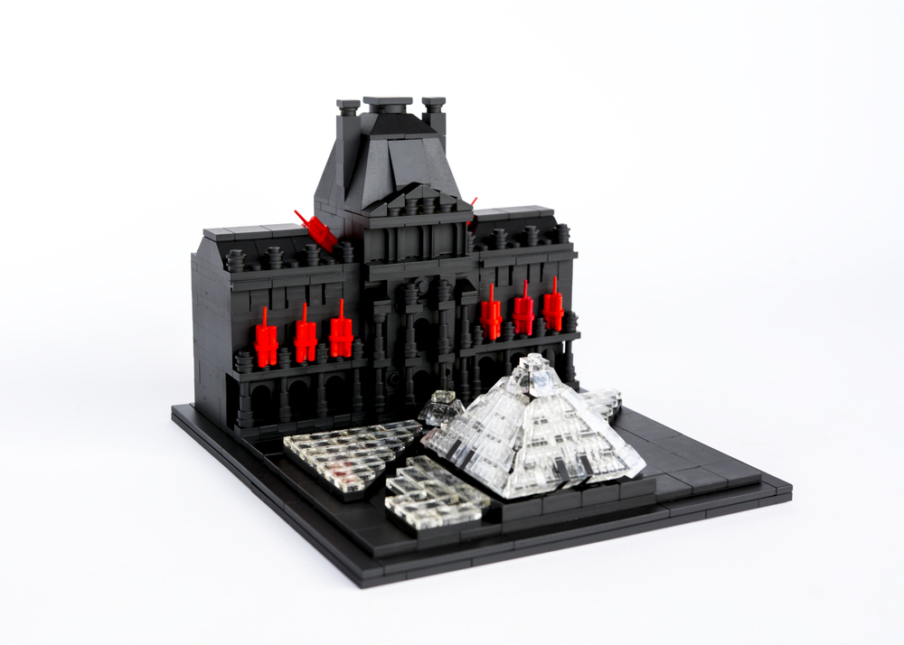 "Anti-Monuments for Counter Histories (03/29/1998) , painted lego pieces and plastic dynamite, 5"" (13cm) tall, 6"" (17cm) wide and 7"" (19cm) deep, 2015"