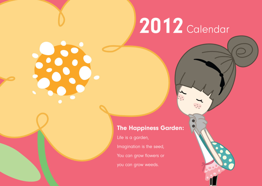 iK S' - 2012 Calendar : The Happiness Garden