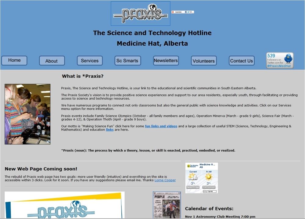 Praxis web pagecirca 2010-2012