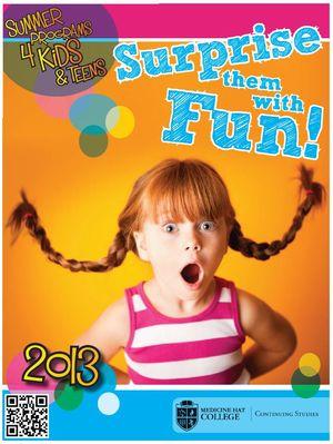 Medicine Hat College Summer Camp 2013 Poster