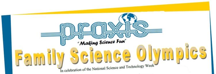 Praxis Family Science Olympics Header