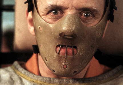 Hannibal Lector in the 1991 horror film Silence of the Lambs.