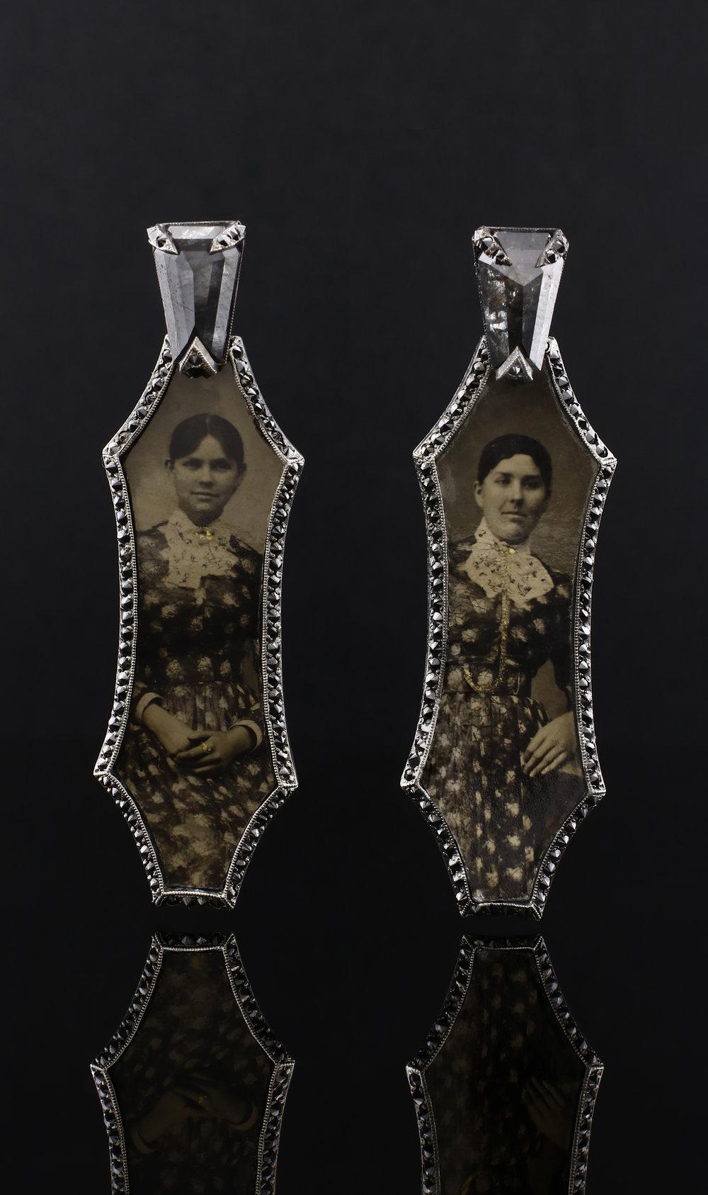 Siamese Sisters Earrings, 2018