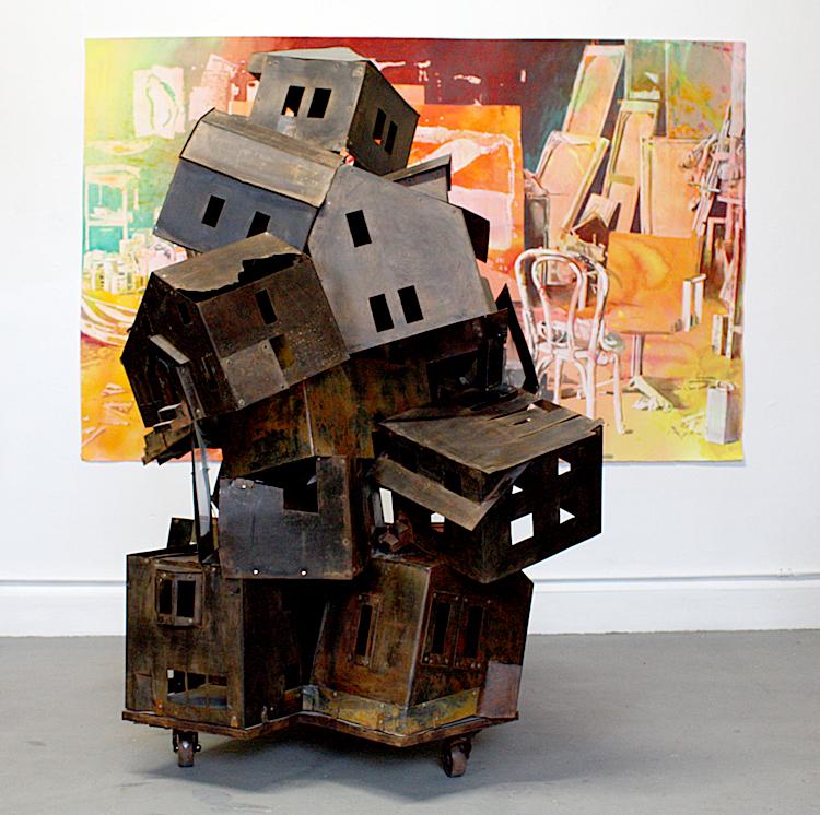 Detroit: 2 stories by Sandra Osip (sculptures)and Douglas James (paintings)