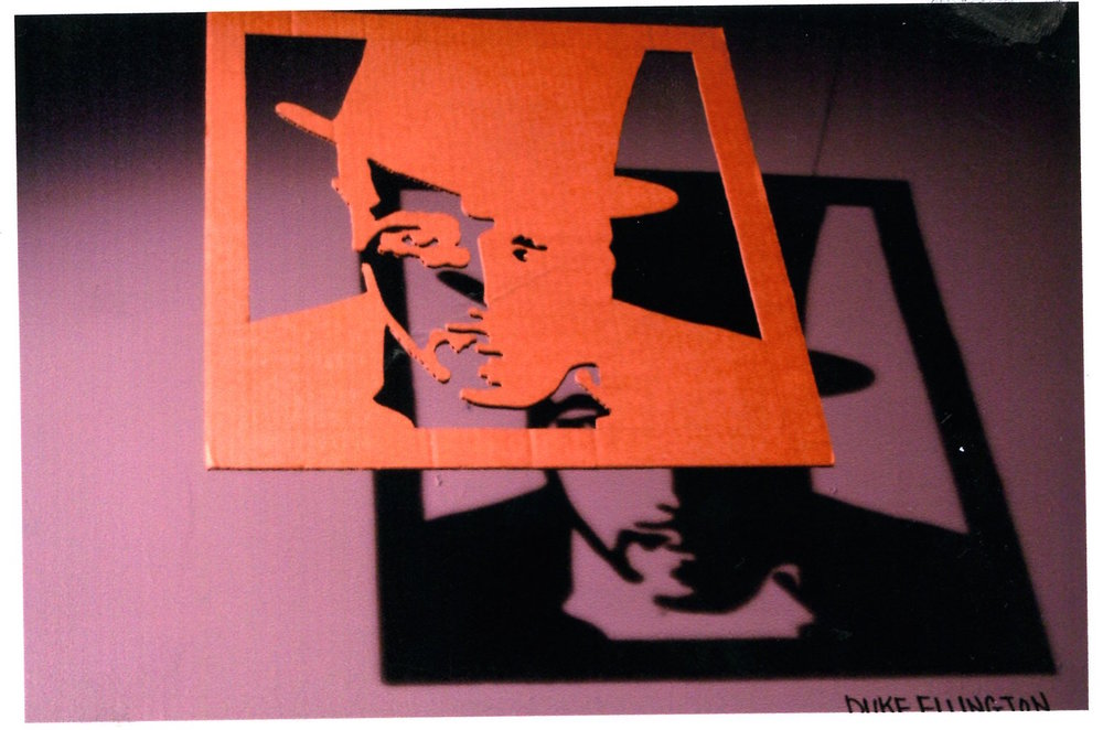 "One of the cardboard shadow portraits (Duke Ellington) by Raymond A. King included in the exhibition entitled ""Cardboard Images"", shown in conjunction with photographs by LeRoy Anderson, entitled ""Black Women: A Place in History"". 2006"