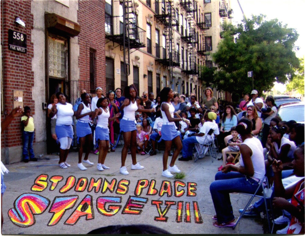 The flyer for St.Johns Place on Stage in 2007.