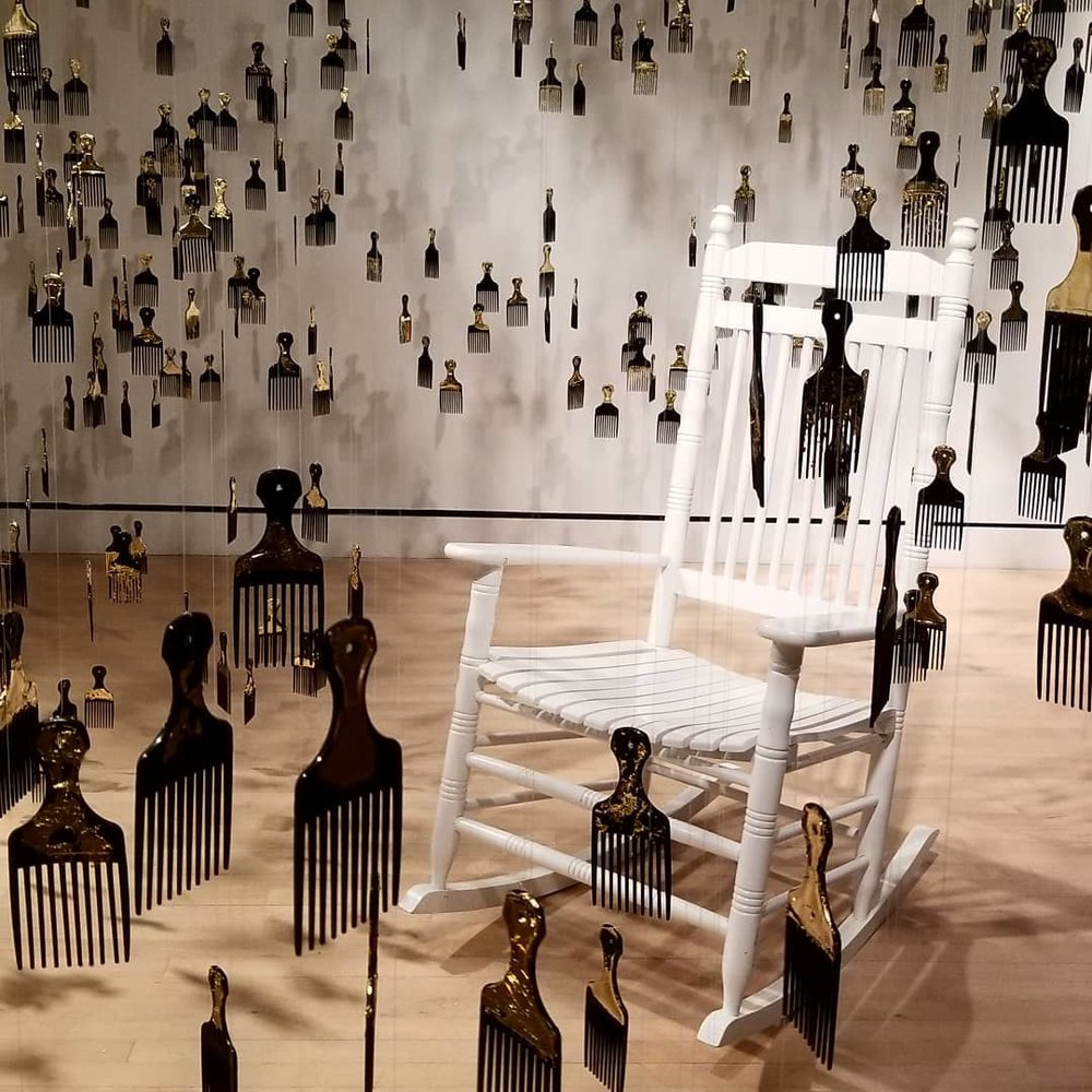 """Installation view of """"Strange Fruit"""", by Eleanor Kipping. Photo credit: James Winter"""